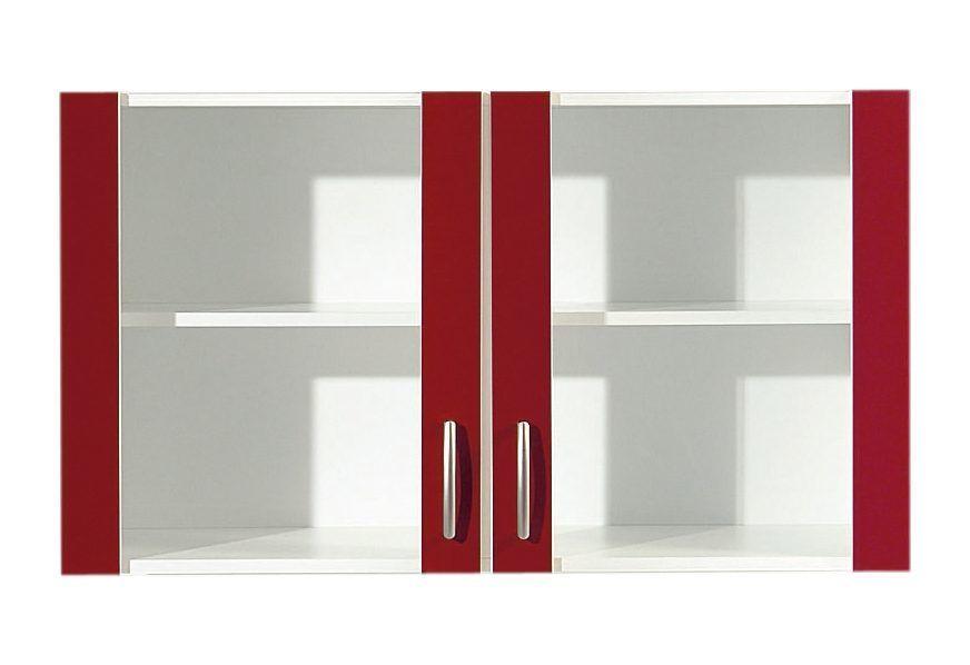 Glashängeschrank rot, Rot Glanz, »Amrum«, yourhome Jetzt bestellen - bilder wohnzimmer rot
