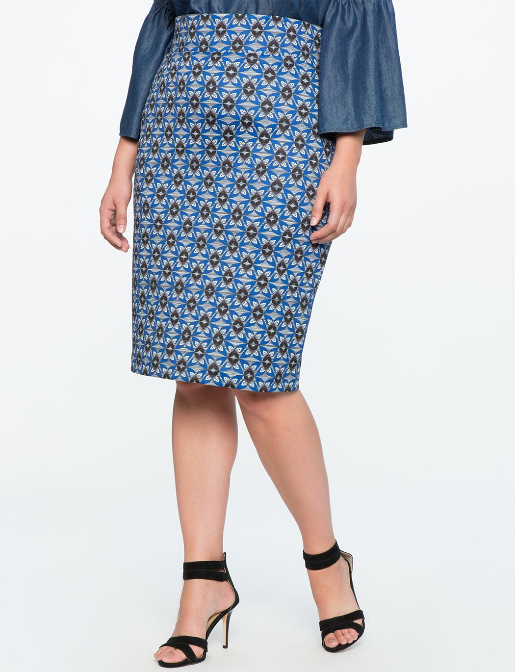 afb3827c879938 Neoprene Pencil Skirt Butterfly Effect Print Plus Size Skirts, New  Wardrobe, Plus Size Women