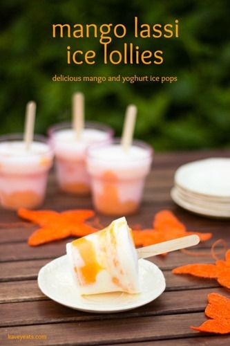 Mango Lassi Ice Lollies and a huge round up of glorious ice lollies on Kavey Eats