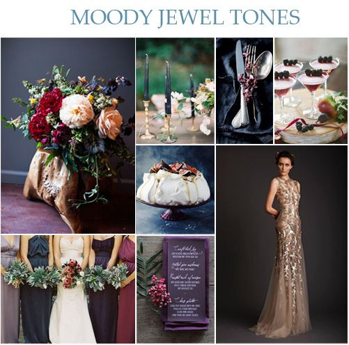 Wedding Ideas And Inspirations: Wedding Wednesday: Moody Jewel Tones