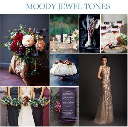 Wedding Ideas And Inspirations: Wedding Wednesday: Moody Jewel Tones