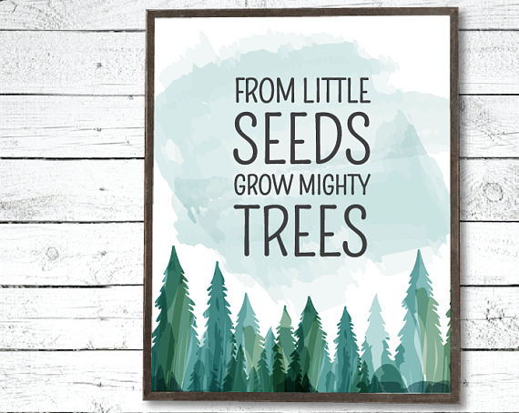 From Little Seeds Grow Mighty Trees Nursery Printable Woodlands