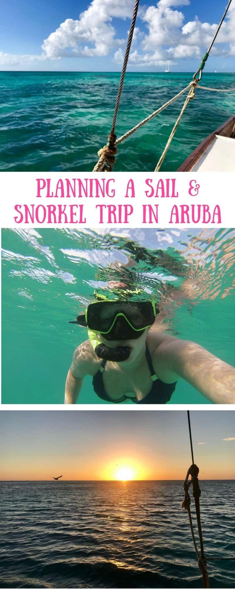 Aruba sailing trips, snorkel on the Black Pearl catamaran in Aruba! I loved this chill, beautiful boat trip, the snorkeling, & a gorgeous Aruba sunset | what to do in Aruba, Aruba trip planning, Aruba itinerary ideas, boat trips in Aruba, snorkeling trips in Aruba #aruba #sailing #caribbean