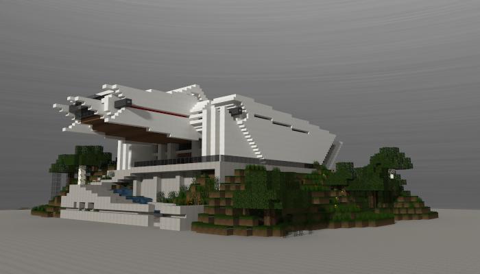 Futuristic house i made in minecraft.