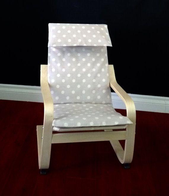 Beige Polka Dot Ikea Childrens Poang Cushion Slipcover With