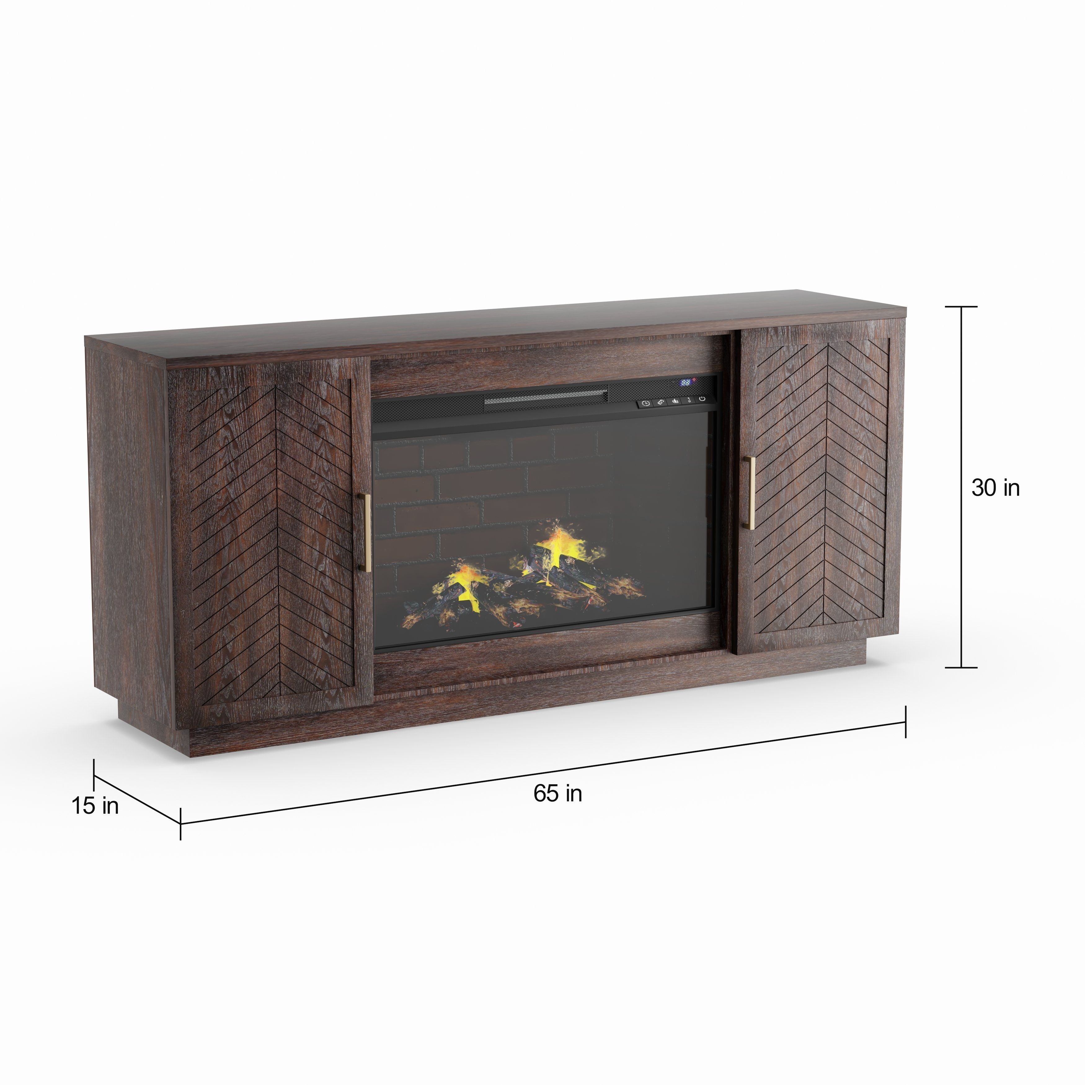 Strick Bolton Espresso 33 Inch Electric Fireplace Tv Stand