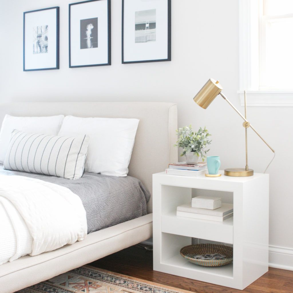 White Nightstands from Serena & Lily | The DIY Pla