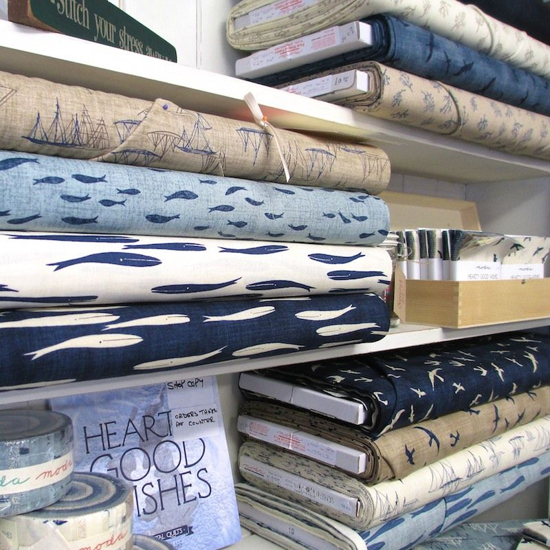 Hearty Good Wishes by Janet Clare for Moda : understated nautical colours and seafaring designs