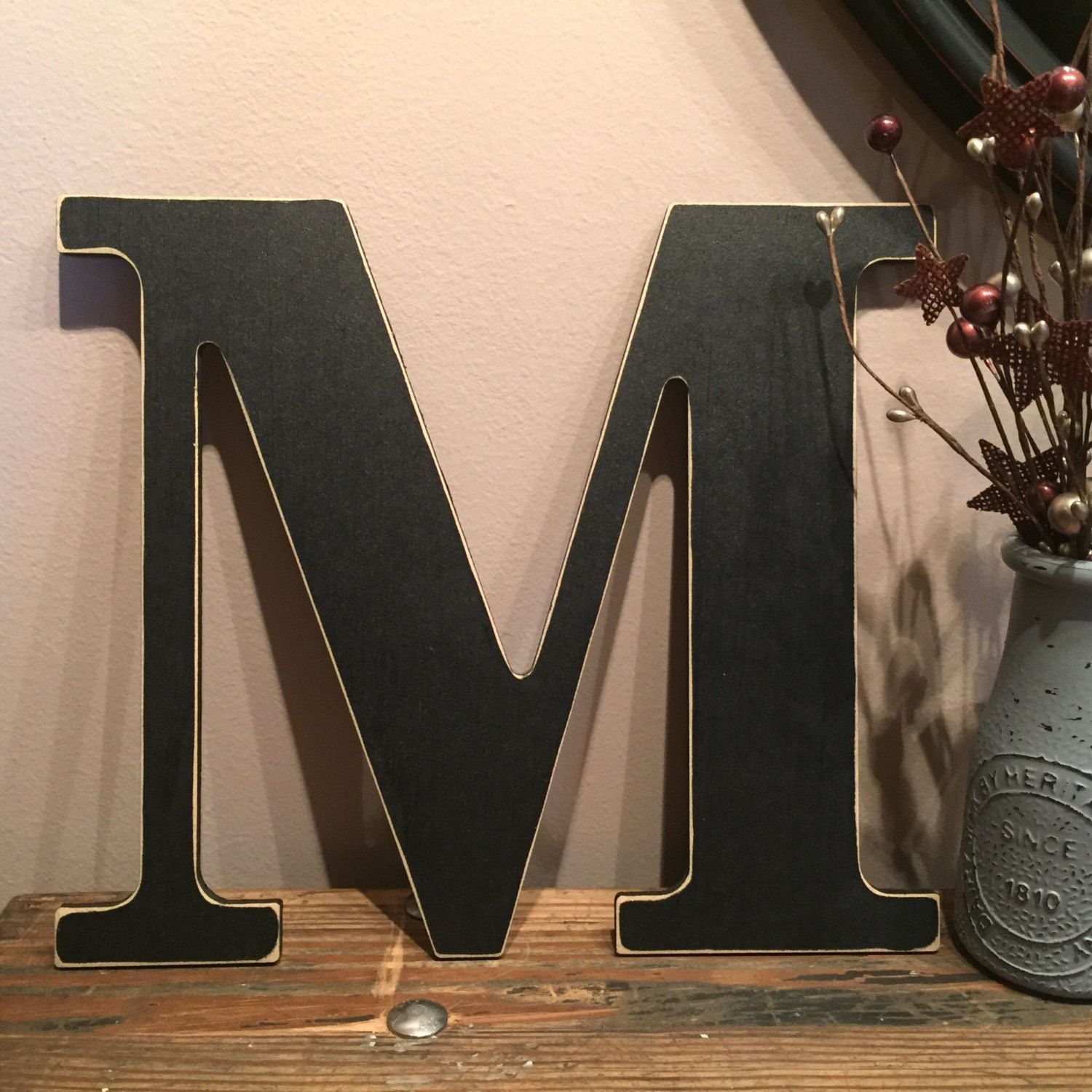 Rustic Black Letters Distressed Initial Letters A B C D E F G H I J K L M N O P Q R S T U V W X Y Z Custom Letter Rustic Black Rustic Letters Black Letter