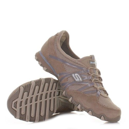 #Skechers Bikers Hot Ticket #Shoes - Taupe Blue. £45