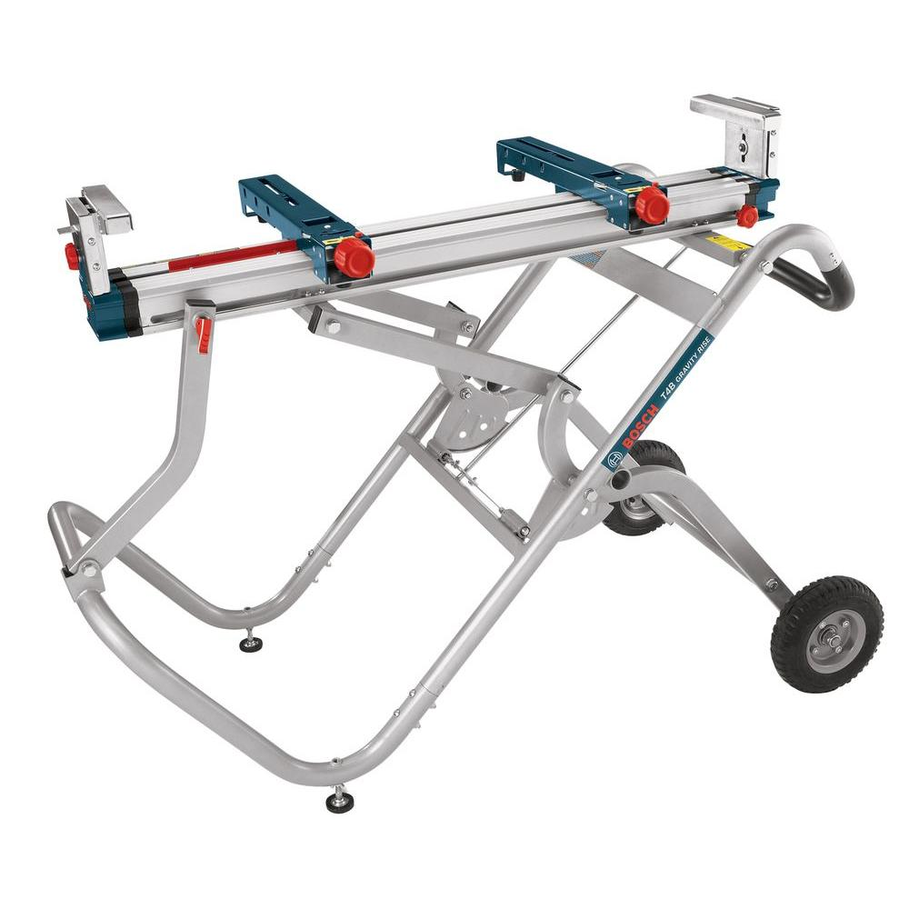 Bosch Portable Folding Gravity Rise Miter Saw Stand With Wheels Mitre Saw Stand Best Miter Saw Stand Bosch Miter Saw Stand