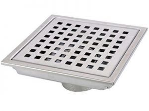 Hanebath 6 Inch Square Shower Floor Drain With Removal Grate   Made Of  Stainless Steel By Hane