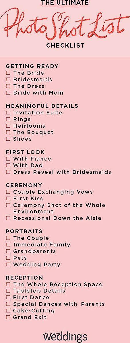 Photo of The Ultimate Wedding Photo Shot List