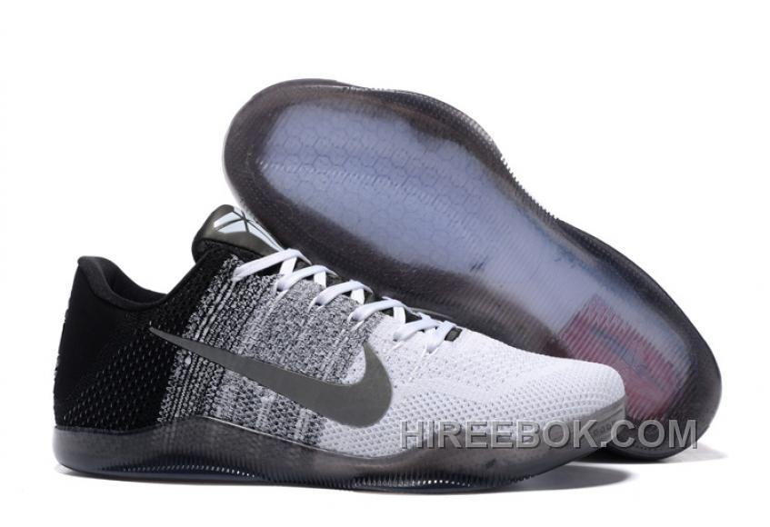 1a83fc8a2530aa Nike Kobe 11 White Black Basketball Shoe For Sale Discount