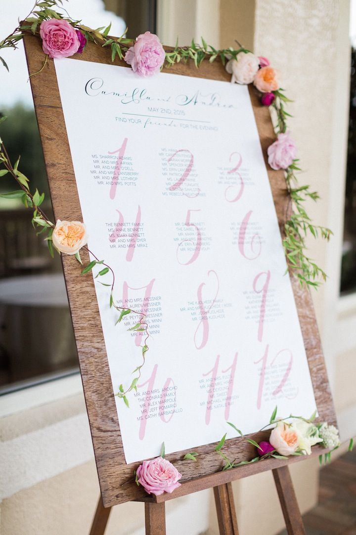 Photo Hunter Ryan Wedding Reception Seating Chart Idea
