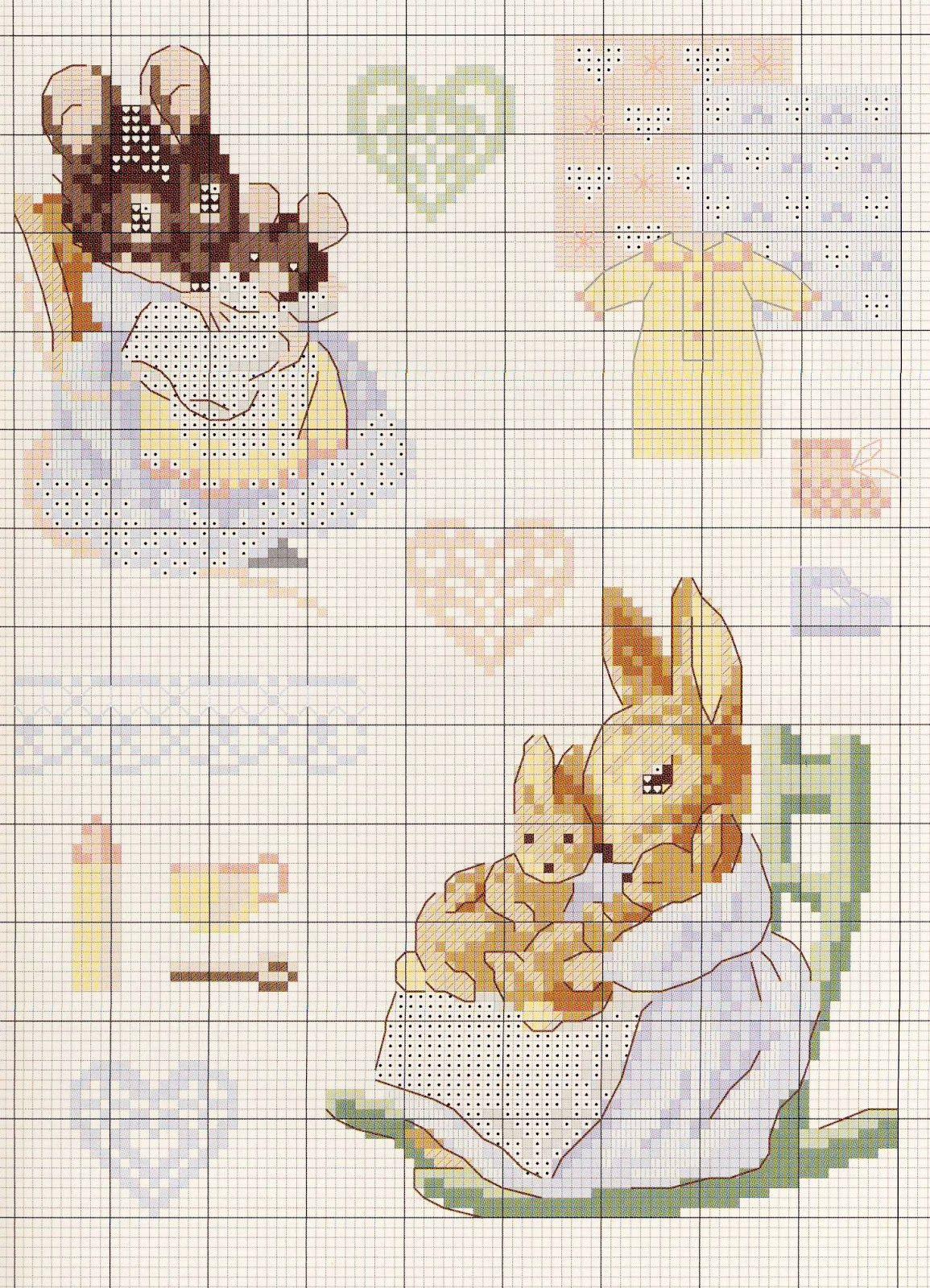 Beatrix potter схемы для вышивки
