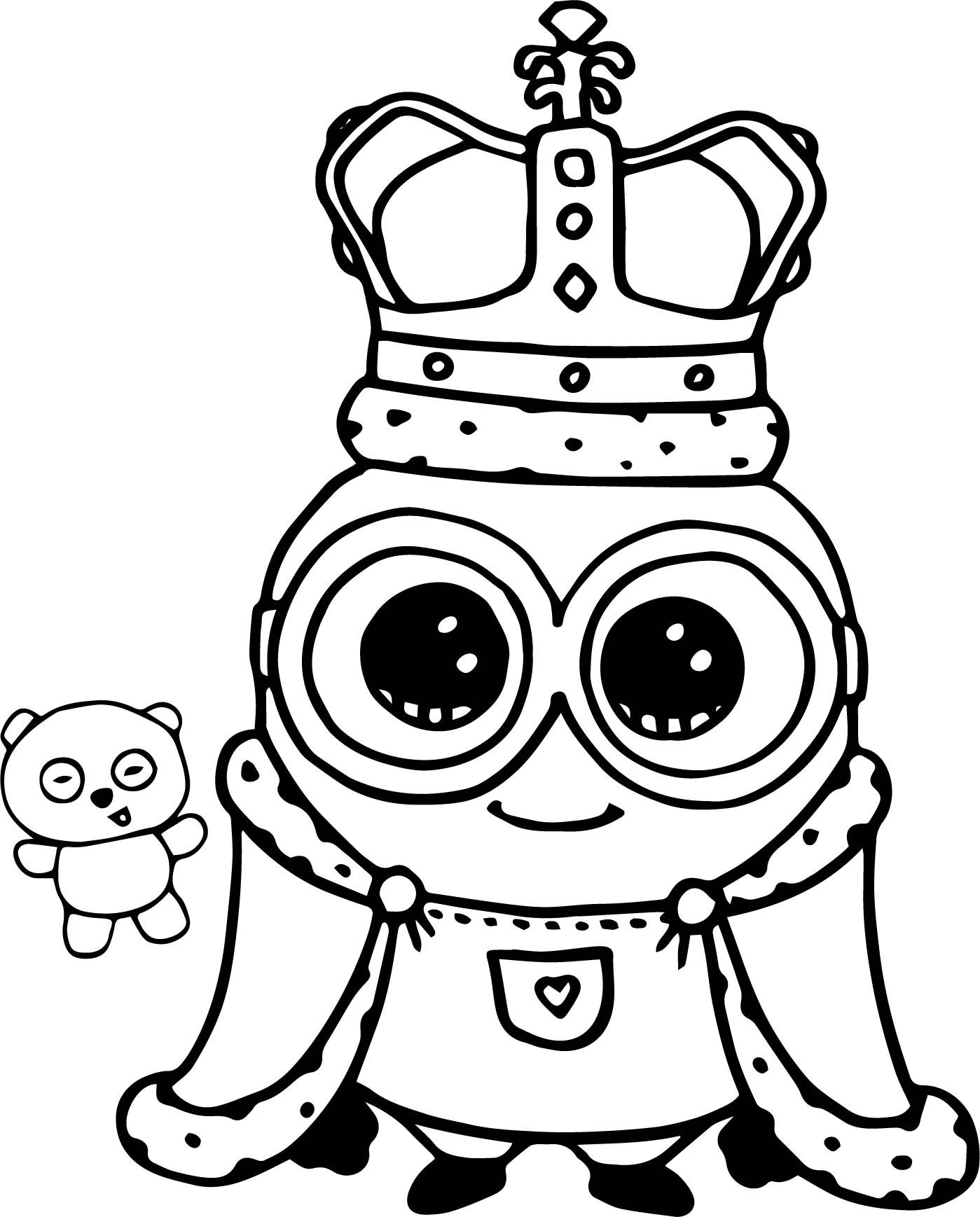 Nice Minion King Bob Cute Coloring Page Minion Coloring Pages Minions Coloring Pages Cute Coloring Pages