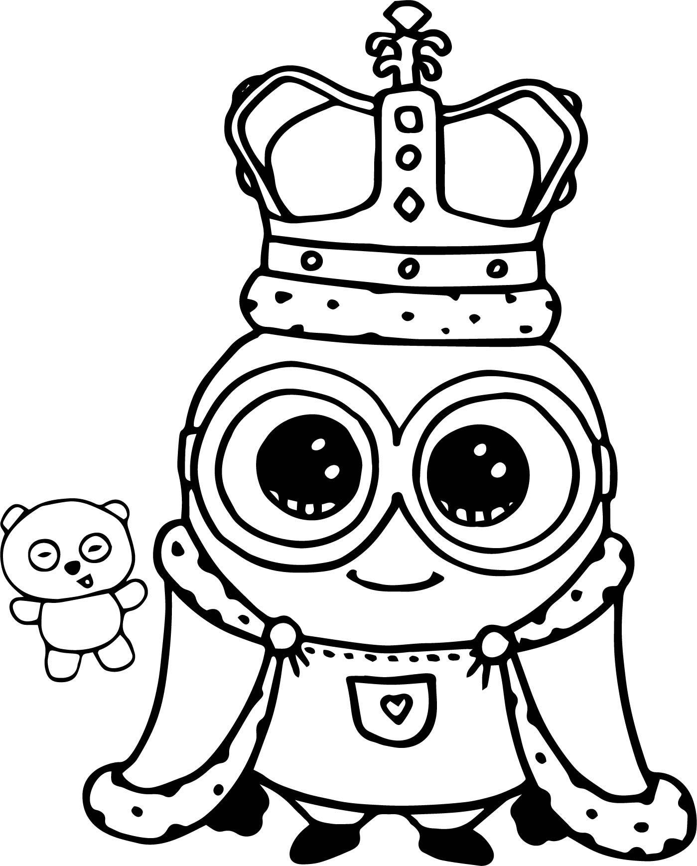 Nice Minion King Bob Cute Coloring Page Malvorlage Einhorn