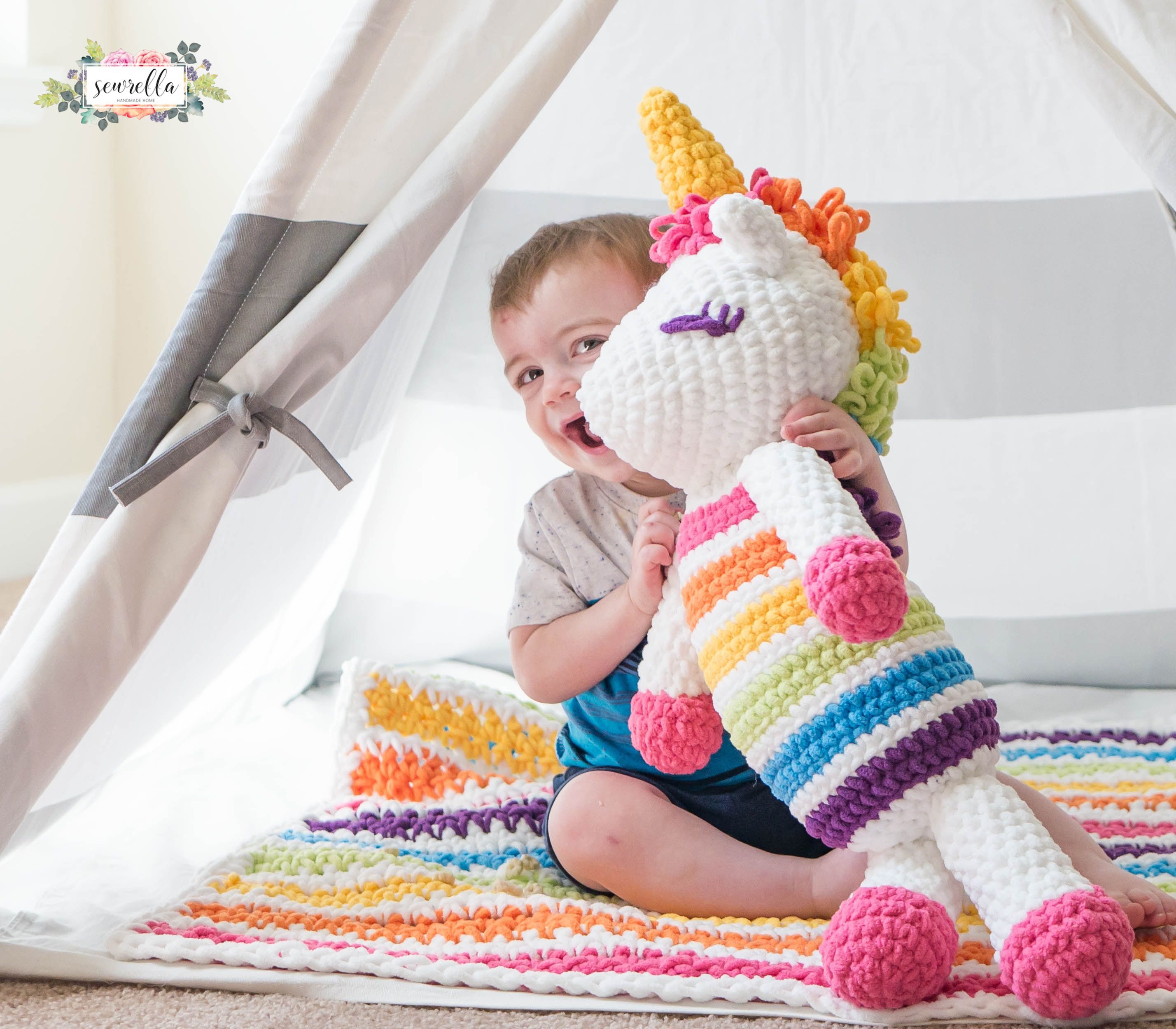 Lola the Crochet Plushy Unicorn | Unicornios, Tejido y Molde