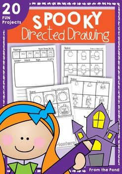 Halloween Spooky Directed Drawing Directed Drawing Art Lessons