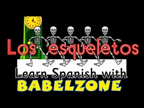 A Spanish Song For Kids For El Día De Los Muertos Halloween Or Anytime Los Esqueletos Spanish Pl Spanish Songs Learning Spanish Learning Spanish For Kids