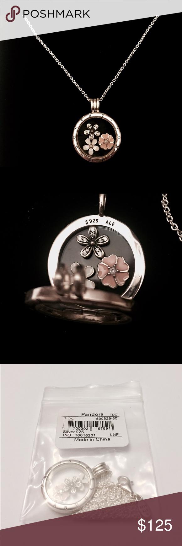 6cc1fa3da Pandora Floating Locket Necklace W/ Petites. The Necklace Comes with the Pandora  Necklace Tag and the Pandora Hinged Necklace Box. Pandora Jewelry Necklaces