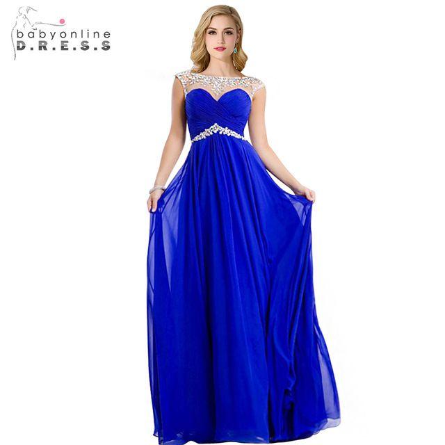 Vestidos de gala azul pavo