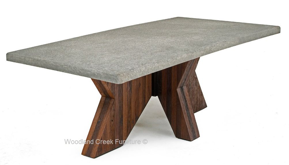 This Sustainable Dining Table Is Made From Reclaimed Wood - Concrete dining room table