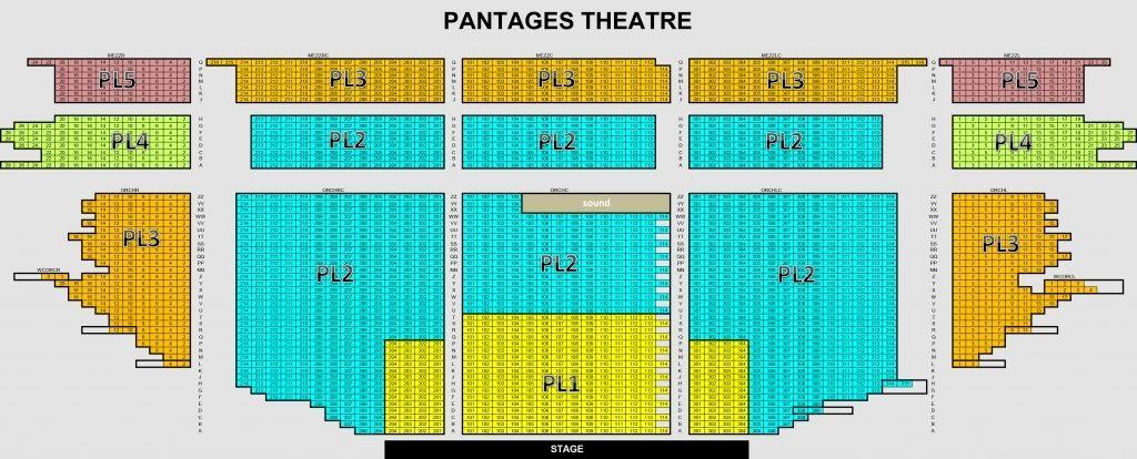 Pantages Seating Chart View Di 2020