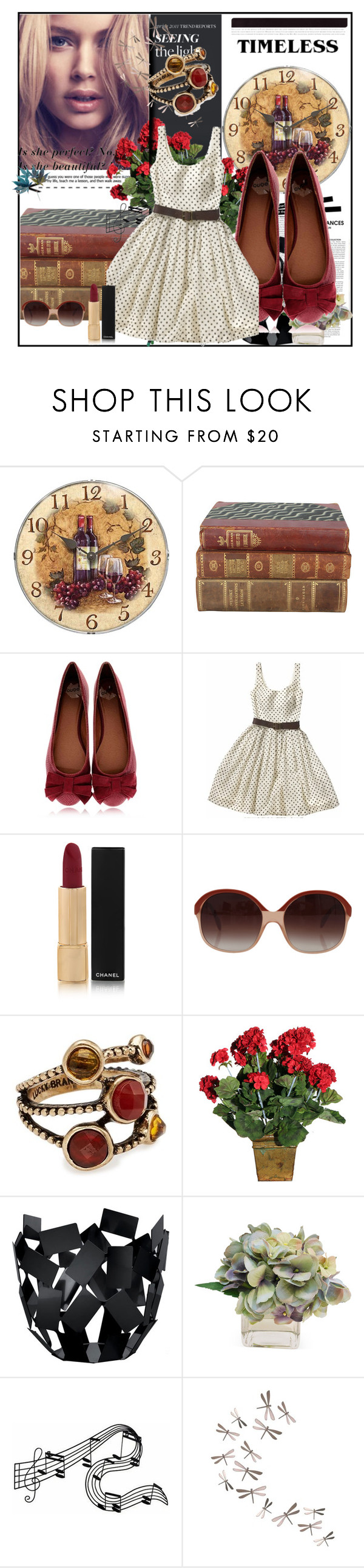 """""""Little pretty lady"""" by wild-1child ❤ liked on Polyvore featuring DuÅ¡an, Infinity Instruments, Qube, Corey Lynn Calter, Chanel, Oliver Peoples, Lucky Brand, Alessi, The French Bee and Umbra"""