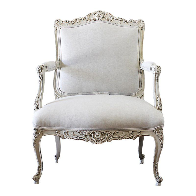 Mid Century Vintage Louis Xv Stye French Painted And Upholstered Open Arm Chair In 2021 Upholstered Chairs Furniture Chair Chair