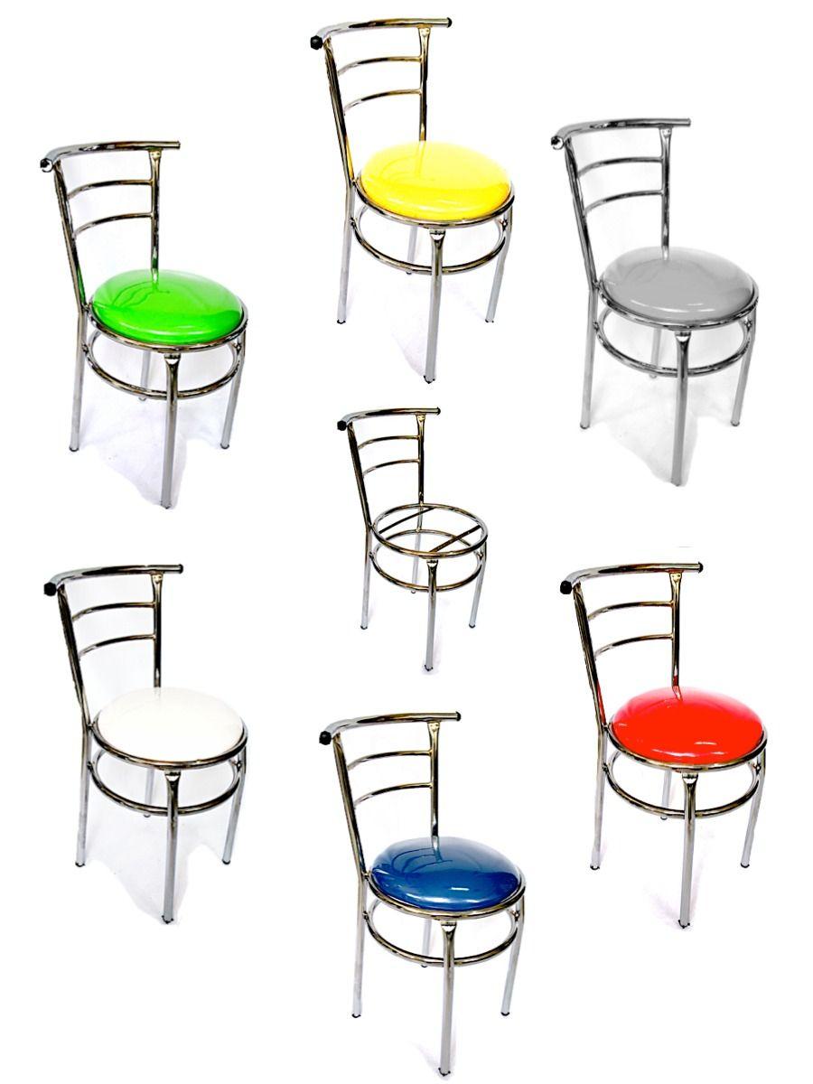 silla cromada acojinada para restaurante bar cocina | waffles ...