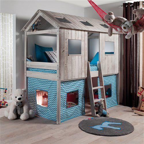 deco lit cabane garcon. Black Bedroom Furniture Sets. Home Design Ideas