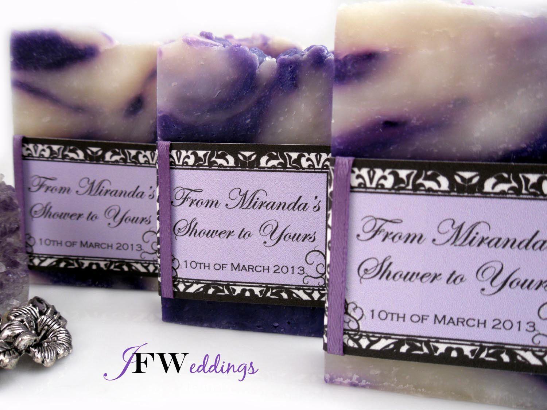 50 Handmade Vegan Soap Favors   Black Damask scented in Sheer Lavender Seduction   Wedding   Bridal In Cellophane bags   Made in 7 days by JoyFilledWeddings on Etsy https://www.etsy.com/listing/125825728/50-handmade-vegan-soap-favors-black