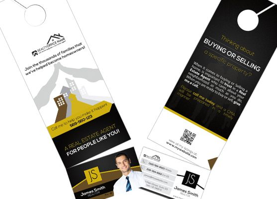 Real Estate Door Hanger Rip Cards Template 02 Door Hanger Rip Cards Door Hanger Printing Real Estate Business Card Holders