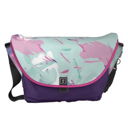Splash of colour courier bag