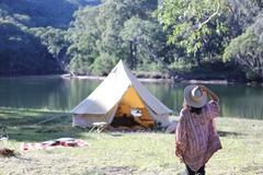 4-Meter Canvas C&ing Bell Tent - The Londonderry & 4-Meter Canvas Camping Bell Tent - The Londonderry | Londonderry ...