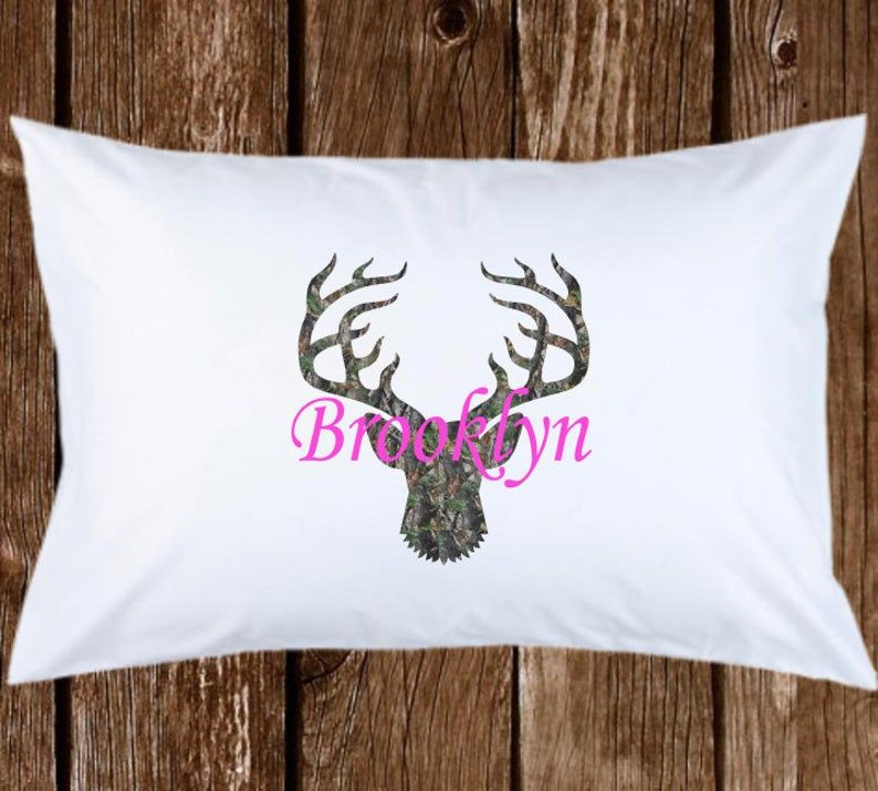 Camouflage/Camo Pink Personalized Name Monogram Custom Pillow case Gift for Kids & Adults - Birthday