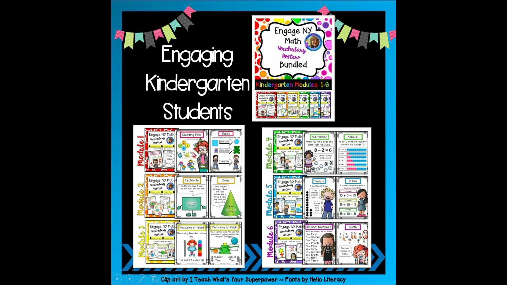 Math Vocabulary Posters For Kindergarten Engage New York