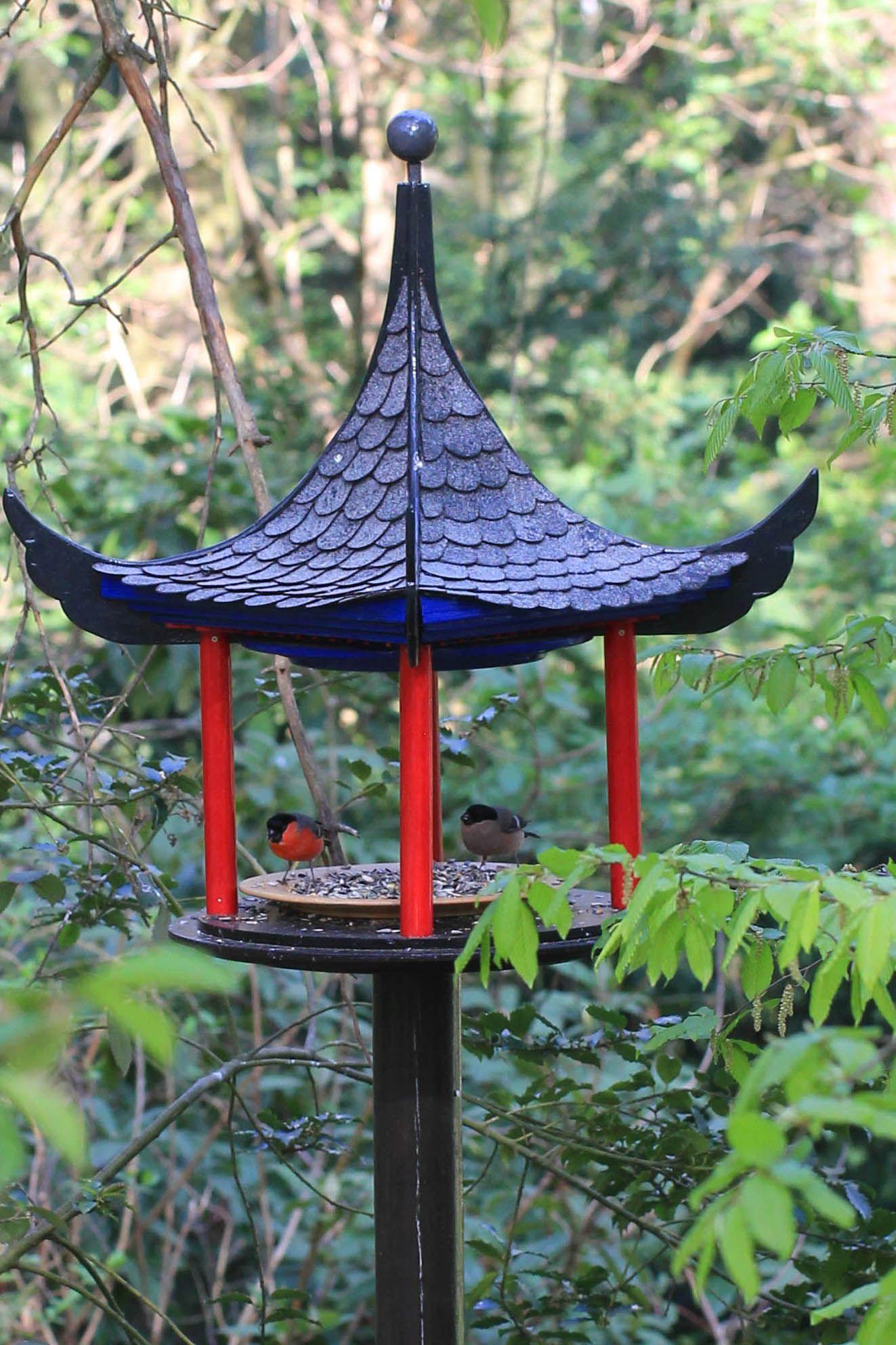 futterhaus - pagode   futterhaus, vogelfutterhaus und garten