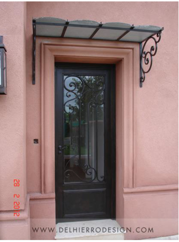 puerta y alero de hierro forjado modelo california 1804