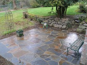 Stone Patio Completed By Portland Mason. For More Photos Visit Http://www. Patio  TilesStone PatiosOutdoor ...
