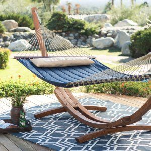 Island Bay 13 ft. Unwind Quilted Double Hammock - Hammocks at Hayneedle