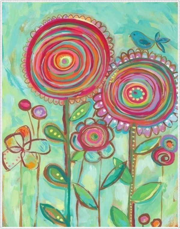 40 Canvas Paintings for Kids | Watercolor Projects | Pinterest ...
