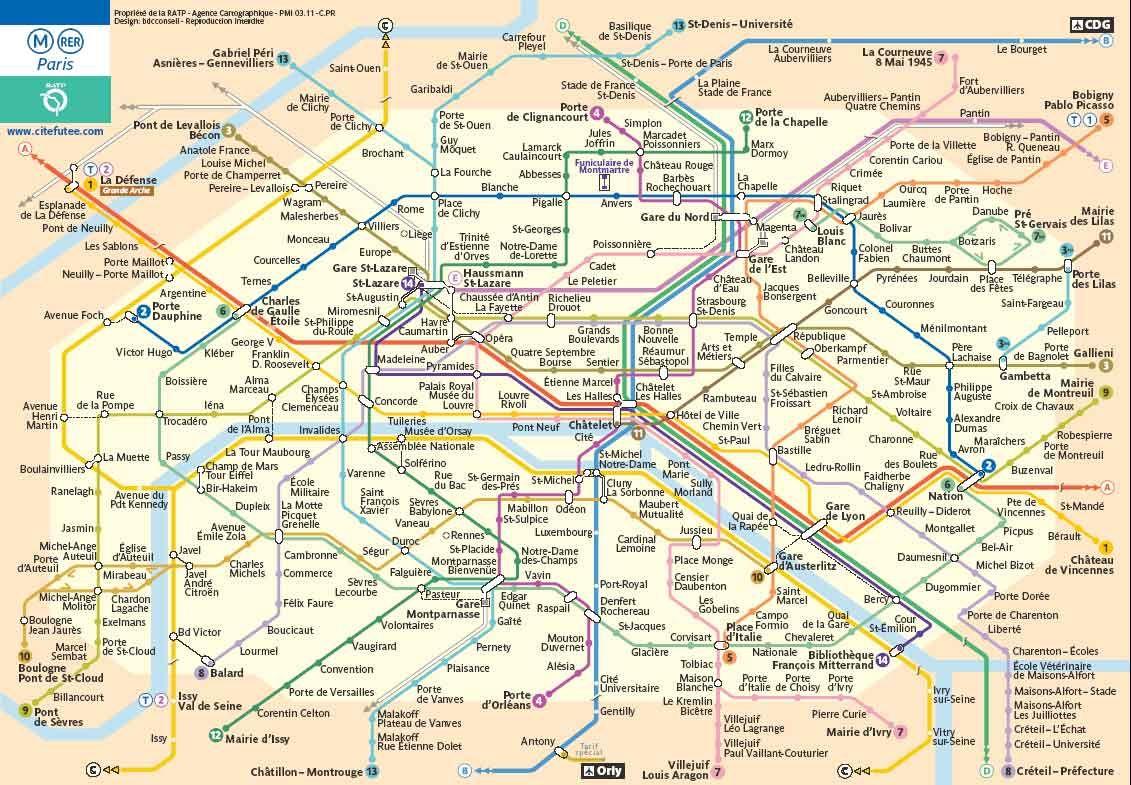 mapa metro paris para imprimir   Buscar con Google | Viajes