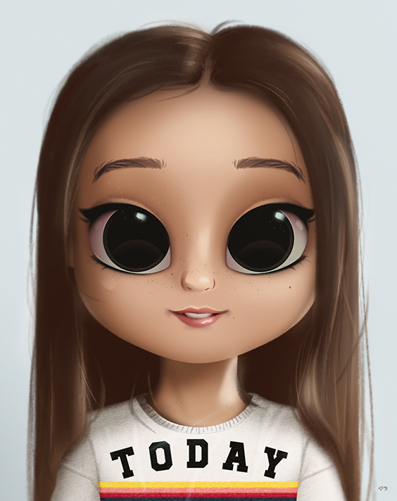 cartoon portrait digital art