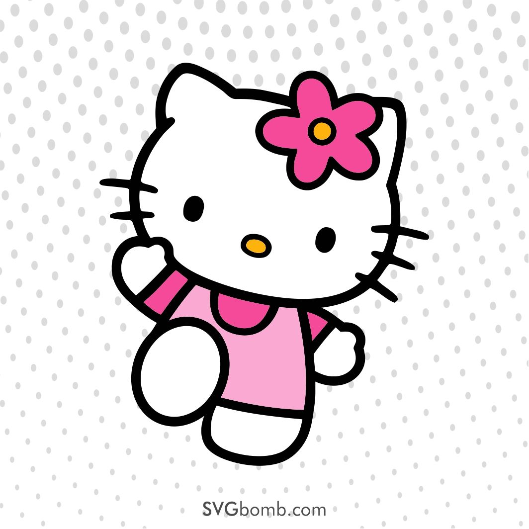 Free Hello Kitty Svg With Images Hello Kitty Crafts Hello
