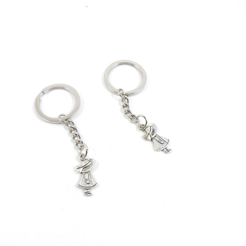 1 Pieces Keychain Door Car Key Chain Tags Keyring Ring Chain Keychain  Supplies Antique Silver Tone Wholesale Bulk Lots H0ZX1 Little Girl   It s  so cheap! e586e05683