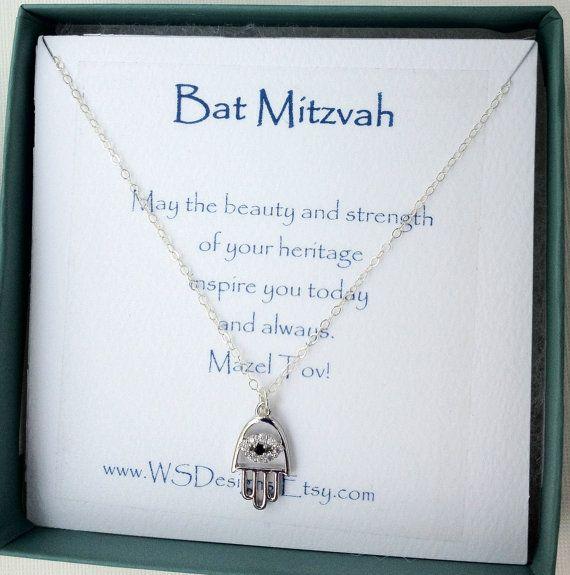 Bat Mitzvah gift Silver hamsa hand evil eye by WendyShrayDesigns ...