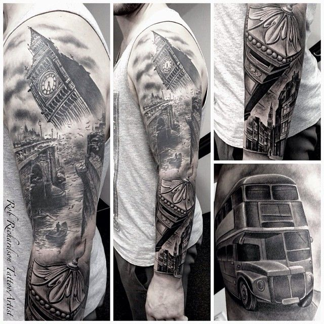 15 Gorgeous London Inspired Tattoos You Ll Absolutely Love Sleeve Tattoos Cloud Tattoo Sleeve Tattoos